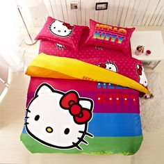 2015 New Hello Kitty Comforter Sets Duvet Covers Beautiful Comforter Sets New Arrival