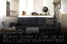 decorating tips for men (ways to make apartment look more adult)
