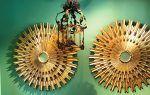 Stunning Pair of Monumental Venetian Giltwood Starburst Mirrors circa 1940