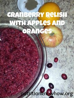 Cranberry Relish with Apples and Oranges