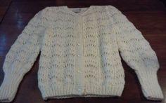 Vtg 80s CHRISTINE Hand Knit Original Off White Cardigan Sweater Size SMALL EUC #ChristineHandKnitOriginal #Businesscareerweartowork