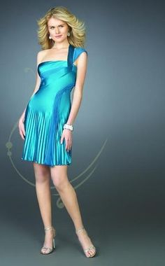 La Femme - 13926 Double Side One-Shoulder Pleated Short Dress – Couture Candy Turquoise Homecoming Dresses, Turquoise Dress, Pageant Dresses, Fit And Flare Cocktail Dress, Pleated Shorts, Great Legs, Couture Dresses, Special Occasion Dresses, Get Dressed