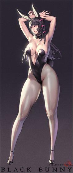 Black Bunny by Hyulla