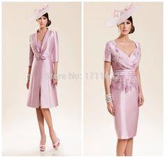 Pas cher Robes Madrinha femmes élégantes robe dentelle avec manches ...