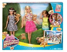 Barbie and Her Sisters in The Great Puppy Adventure Doll (3-Pack)
