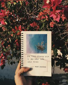Easy journal entry: Begin with a favorite quote and simply paste a clipped image from a magazine.