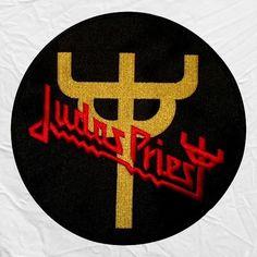 Judas Priest Logo Embroidered Big Patch Rock Rob Halford Ian Hill Glenn Tipton
