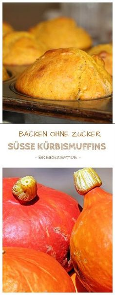 Kürbismuffins für Baby und Kleinkind Sweet pumpkin muffins are small pumpkin pie from the baking without sugar category and are suitable as complementary foods for the baby (BLW), but they also taste Healthy Dessert Recipes, Healthy Baking, Brunch Recipes, Baby Food Recipes, Baking Recipes, Desserts, Muffins Sains, Baby Muffins, Baby Finger Foods