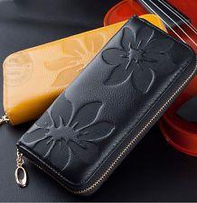 SALE 35% (4.57$) 2016 new fashion lady women genuine leather purse wallet phone card zip handbag