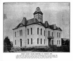 First courthouse erected in Conroe - 1890.