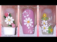 Cute Nail Art, Cute Nails, My Nails, Flower Nail Designs, Nail Art Designs, Cute Animal Photos, Flower Nails, Pedicure, Glitter