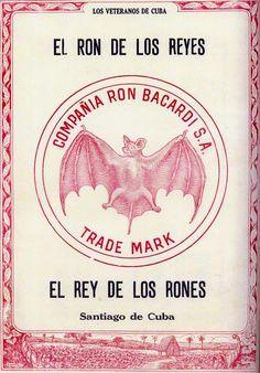 "1927: ""El Rey de los Rones, El Ron de los Reyes"" (The King of Rums, the Rum of Kings). #rum #bacardi #bat #art #vintage #poster #advertisement"