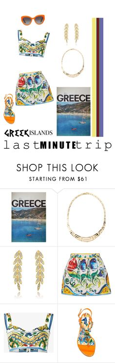 """Last Minute Trip — To the Greek Islands."" by campanellinoo on Polyvore featuring Dolce&Gabbana"