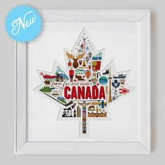 Canada Sampler Cross Stitch Pattern Digital Format by Stitchrovia, £11.99 - what a fab design!