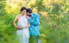 Rachel and Daniel (sporting the funkiest wedding jacket ever) | Photo by Envision Photography | #kingfisherbay #fraserisland #destinationwedding #fraserislandwedding #fraserwedding http://www.fraserislandweddings.com.au/ #AccorAustralia #Mercure