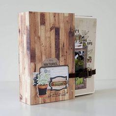 "Album ""Ma cabane au Canada"" - Le blog de Flo Album Photo Scrapbooking, Mini Albums Scrapbook, Tutorial Scrapbook, Mini Album Scrap, Large Scrapbook, How To Make Frames, A 17, Book Making, Mini Books"