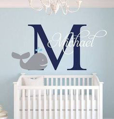 Name Wall Decal - Whale Wall ...