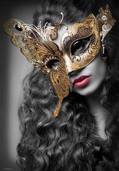 Giorno dei morti in Metallo Filigrana Maschera Occhi Signore maschera Masquerade Fancy Dress