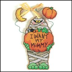 Dimensions Halloween Whimsies Silly Mummy cross stitch
