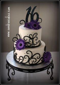sweet 16 cakes for girls | Sandra's Cakes: Jessie's Sweet Sixteen1
