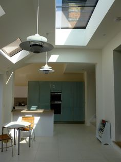 Fixed multipart Flushglaze rooflight - A fixed glazing system comprising of painted aluminium extrusion and a double glaze unit. Available in either single or multipart format. Glass And Aluminium, Aluminium Doors, Flat Roof Lights, Rendered Houses, Roof Window, Log Burner, Skylight, Clear Glass, New Homes