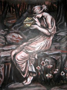 """Pandora's Box"" Original Acrylic Painting on Paper by Michelle Durell / Durell Studio"