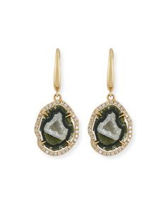 Natural+Druzy+Agate+&+Diamond+Drop+Earrings+by+Rina+Limor+at+Neiman+Marcus.
