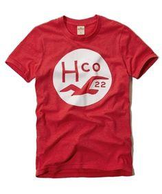 Nova coleção Hollister! Camiseta Hollister com gola canoa. Tecido leve com algodão. Estampa frontal. Produto original.