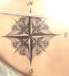 Compass Tattoo idea for girls