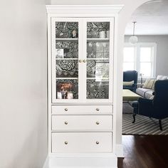 This Lovely Armoire Was Made From 2 Ikea Hemnes Cabinets And Leftover Molding Trim