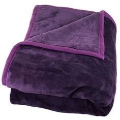 Windsor Home Solid Soft Heavy Thick Weighted Plush Mink Blanket - 8 pounds (Purple - Machine Wash - Microfiber/Faux Fur - Woven - 8 lbs - Modern & Windsor Homes, Color Violeta, Online Bedding Stores, Purple Bedding, Purple Couch, All Things Purple, Purple Stuff, Faux Fur Throw, Outfits
