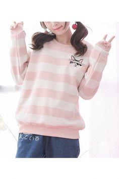 Womens Sweatshirts Japanese Harajuku Ulzzang Love Embroidered Hooded Sweatshirt Female Korean Kawaii Cute Clothing For Women Exquisite Traditional Embroidery Art Hoodies & Sweatshirts