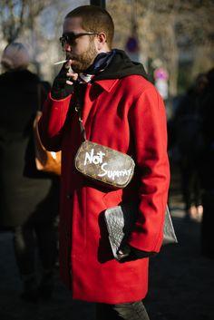 Street style at Paris Fashion Week Men's fall 2017.