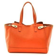 *LAST ONE* SALVATORE FERRAGAMO MEDIUM ORANGE VERVE TOTE HAND BAG RRP $2250 #SalvatoreFerragamo #TotesShoppers