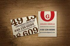 7 x 5 cm. Business cards.