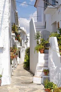 Beautiful white streets,Frigiliana in Andalusia, Spain - Urlaub Places Around The World, Oh The Places You'll Go, Travel Around The World, Places To Travel, Around The Worlds, Beautiful World, Beautiful Places, Beautiful Streets, Magic Places
