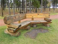 log bench wood-shop