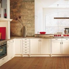Red Accent Kitchen Natural Interior Design Ideas Themes