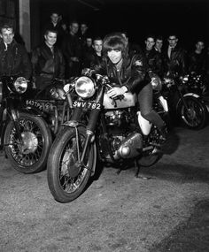 Girls rule, boys sit in the sidecar. Go on with your bad selves.