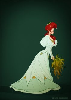Artist Claire Hummel dressed her Disney princesses in historically accurate costumes.  Illustration by Claire Hummel