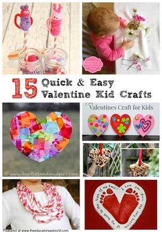 Quick and Easy Valentine's Day Crafts for Kids featured at The Educators' Spin On iIt