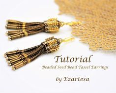 Beaded Tassel Earrings Tutorial Beaded Seed Bead Tassel