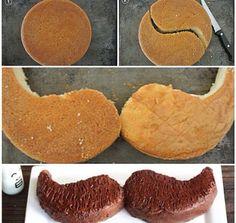 •Cake•Chocolate•Mustache•