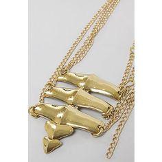 Mettle The Backbone Necklace in Brass