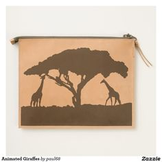 Animated Giraffes Travel Pouch