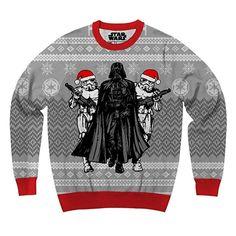 Darth Vader and Santa Hat Stormtroopers Star Wars Dark Side Ugly Christmas Sweater
