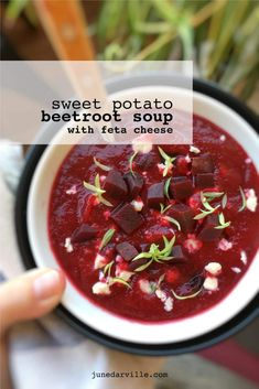Beetroot Soup with Sweet Potato & Feta Cheese