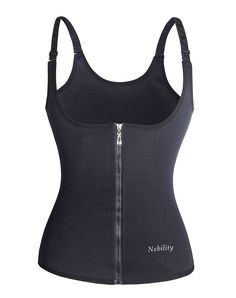 48bf9a315432b Nebility Waist Trainer Corset for Weight Loss Tummy Control Sport Workout  Black L    You