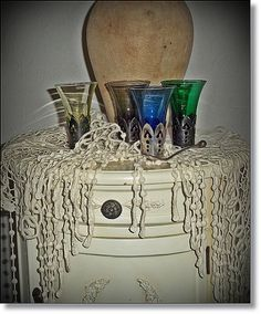 Vintage Glassware Set 4 Silver Plated  French by thevintagearcade, $74.00