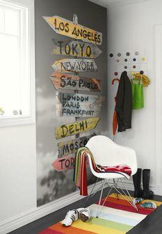 ideas para la pared de la entrada a casa